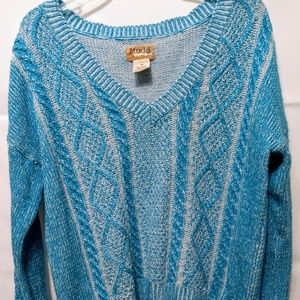 Mudd light bright blue sweater size M